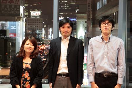 左から、今回お話を聞かせてくれた石山さん、田中さん、佐々木さん