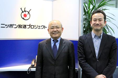今回お話をうかがった、株式会社ニッポン放送プロジェクト 常務取締役 田中 厳美さんと、制作を担当されたアーキタイプ株式会社の執行役員 菅野 龍彦さん