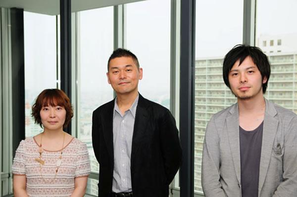 写真左から学研パブリッシング津田さん、山口さん、アイデアマンズ井上さん