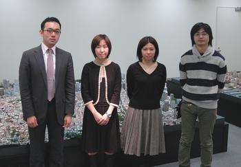 お話を伺った鏡さん、朝倉さん、坂上さん、熊岡さん