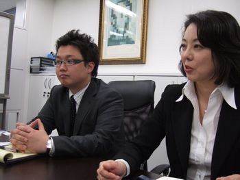 お話を伺った馬場さん、鈴木さん(左から)