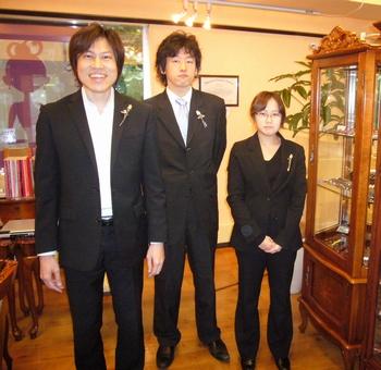 中村忍さん、藤谷昌宏さん、国分麻未さん