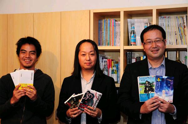 写真右から星海社杉原さん、シナップ坂西さん、柿内さん