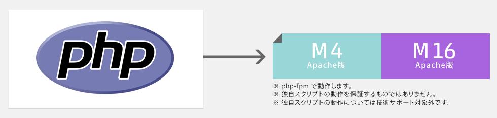 独自PHPスクリプトを使用したい