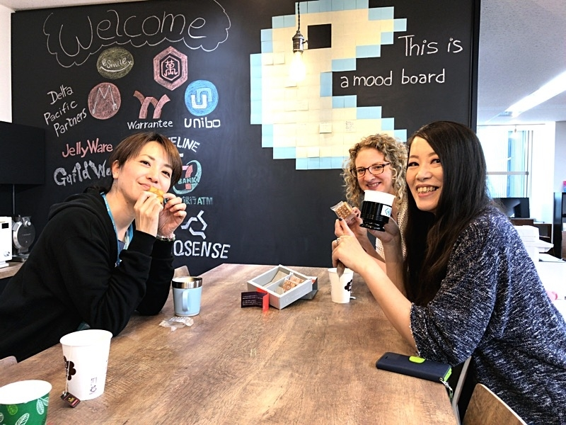 GW明けは、bit&innovationでプレスバターサンド食べながらお仕事中
