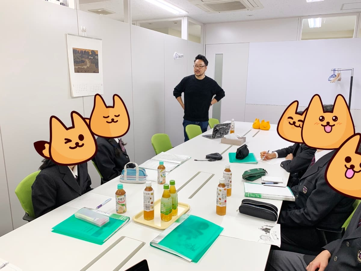石川県立金沢錦丘中学校の皆さんが会社訪問に来てくれました